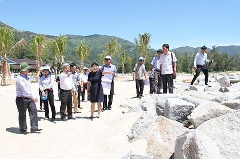 Đoàn công tác của HĐND tỉnh khảo sát Dự án Khu du lịch Năm sao Đại Lãnh.