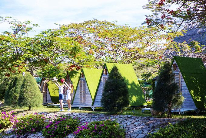 Một góc ảnh tuyệt đẹp ở Khu du lịch Đảo Hoa Lan.