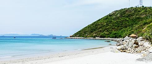 Một góc bãi biển ở Ghềnh Nhảy.